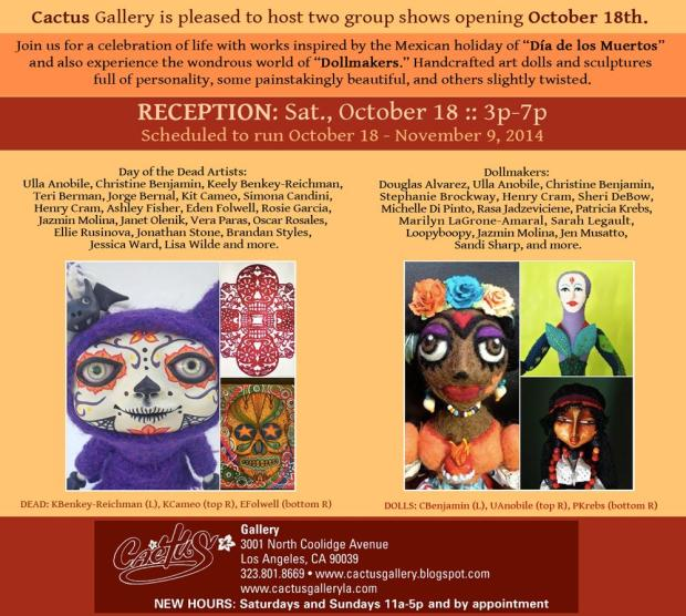 Cactus Gallerly Day of the Dead evite