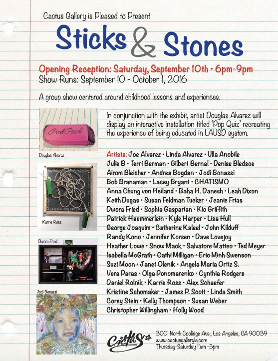 Sticks and Stones promo card