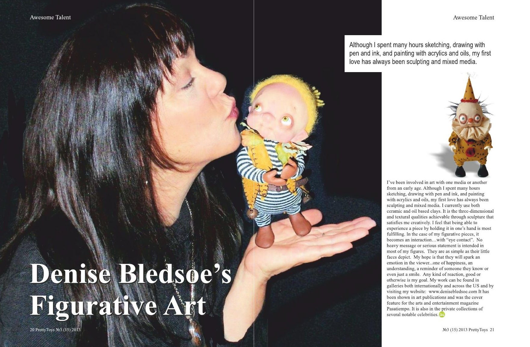 Pretty Toys Magazine Article – Denise Bledsoe Art Dolls