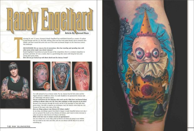 Armand's tattoo in magazine detail - Bledsoe