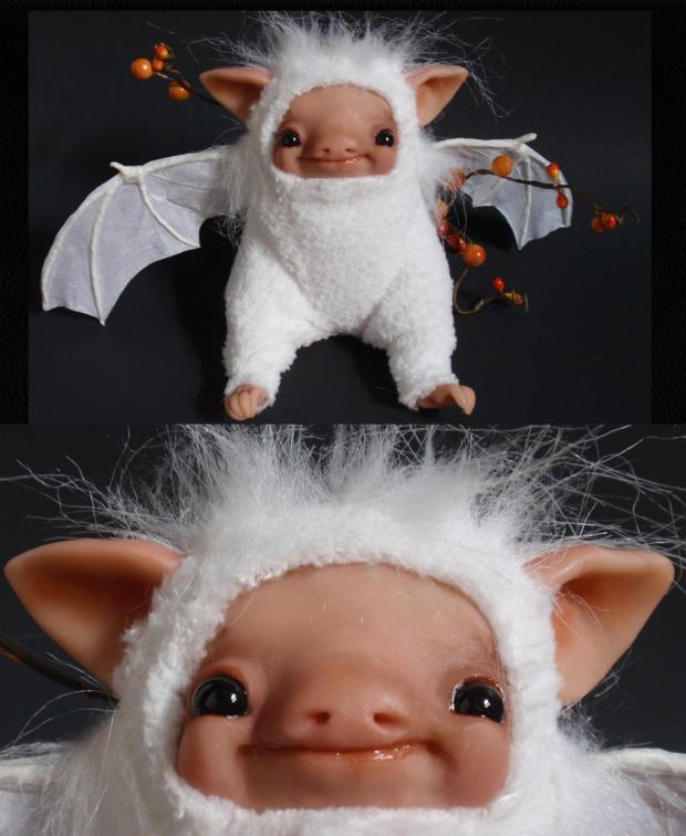 Albino Fruit Bat - D Bledsoe