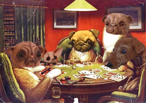 Poker Dogs - Bledsoe