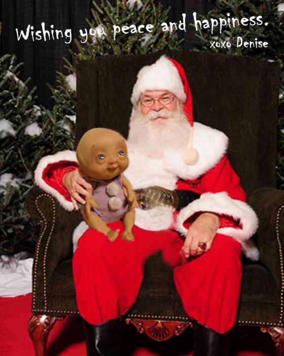 Santa and Pearl 2014 - Denise Bledsoe